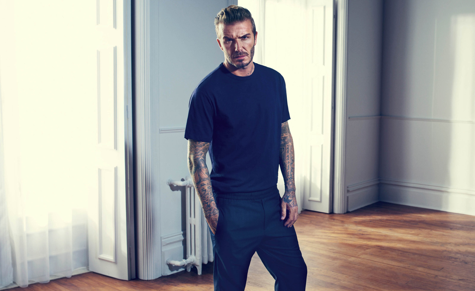 David Beckham - The Checked Shirt